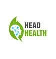 natural brain health logo vector image vector image
