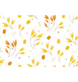 oat branches seamless pattern vector image vector image