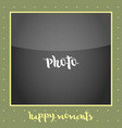 photoframe polaroid with round vector image vector image