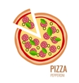 Pizza piece icon background vector image vector image