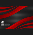 red and black wave with copy space abstract vector image vector image
