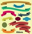 Ribbon banners vector image vector image