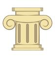 Roman column icon cartoon style vector image vector image