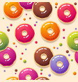seamless pattern multicolor donuts and sweets vector image