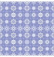 Seamless pattern of heart view snowflakes Winter vector image