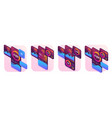 set isometric concepts for mobile app advert vector image