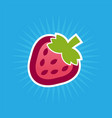 simple strawberry icon vector image vector image