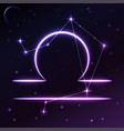 space symbol of libra of zodiac and horoscope vector image vector image
