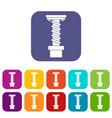 Spiral tool icons set flat
