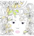 stylized young girl portrait vector image