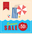 summer sale end of season vector image vector image
