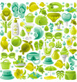 summer sea travel seamless swatch pattern trendy vector image