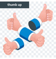 thumb up icon for social media vector image vector image