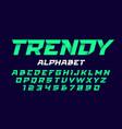 trendy style alphabet vector image vector image