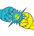 versus rivalry fist sign vector image vector image