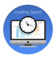 website loading speed or worked time icon vector image vector image
