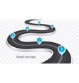 winding 3d road infographic concept on a white vector image