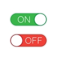 On Off Green and Red Sliders vector image
