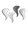 tornado storm icons vector image