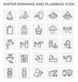 water drinking icon vector image
