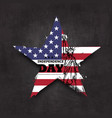 4th july independence day usa grunge star vector image vector image