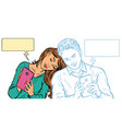 a couple in love a young man and a girl are vector image vector image