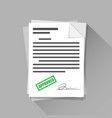 approved stamp sign with signature on document vector image