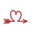 arrow like a red heart love symbol icon stock vector image vector image