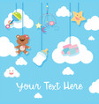 background design with baby items vector image