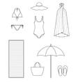 Beach clothes vector image