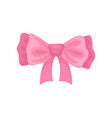 beautiful pink hair bow accessory for girl vector image vector image