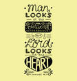 bible verse with hand lettering man looks at the
