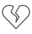 Broken heart line icon valentine and relationship
