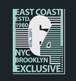 brooklyn t-shirt graphics vector image vector image