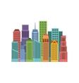 buildings cityscape skyline icon vector image vector image
