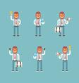 cartoon character set businessman in various vector image