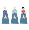 cartoon quiz show concept characters people set vector image vector image