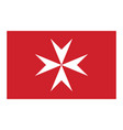 civil flag of malta in official rate and colors vector image vector image