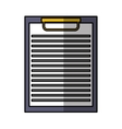 clipboard paper isolated icon vector image vector image