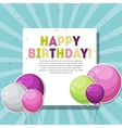 Color Glossy Happy Birthday Balloons Banner vector image vector image