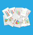 colorful collection various business charts vector image vector image