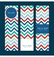 colorful ikat chevron vertical banners set pattern vector image vector image