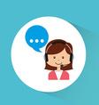 customer service design vector image vector image