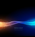 digital particles technology background with vector image vector image
