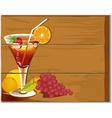 Drink board vector image vector image