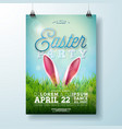 easter party flyer with rabbit vector image vector image