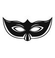 elegant carnival mask icon simple style vector image vector image