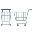 Empty shopping carts vector image vector image