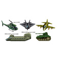 Fighting vehicles vector image vector image