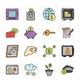 finance and banking icons bundle vector image vector image